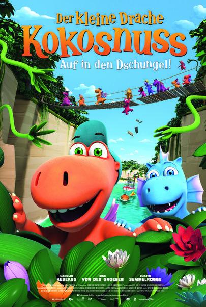 """Filmplakat für """"Der kleine Drache Kokosnuss 2 - Auf in den Dschungel!"""""""