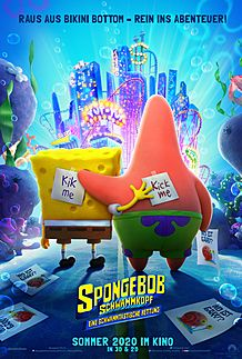 "Movie poster for ""THE SPONGEBOB MOVIE: SPONGE ON THE RUN """
