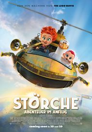 """Filmplakat für """"Störche - Abenteuer im Anflug (3D)"""""""