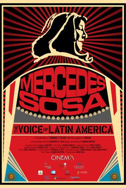"""Filmplakat für """"Mercedes Sosa, die Stimme Lateinamerikas - Cinespanol 4"""""""