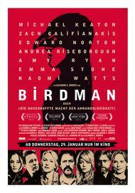 """Filmplakat für """"Birdman oder (Die unverhoffte Macht der Ahnungslosigkeit)"""""""
