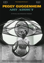 "Movie poster for ""PEGGY GUGGENHEIM: ART ADDICT"""