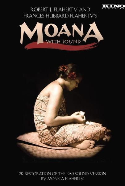 "Movie poster for ""MOANA WITH SOUND (2015 2K RESTORATION)"""
