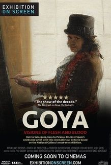 "Movie poster for ""GOYA: VISIONS OF FLESH AND BLOOD"""