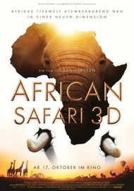 "Filmplakat für ""AFRICAN SAFARI 3D"""