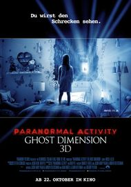 "Movie poster for ""PARANORMAL ACTIVITY: THE GHOST DIMENSION"""