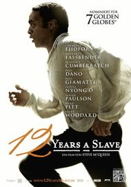 "Movie poster for ""12 YEARS A SLAVE"""