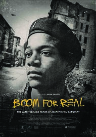 "Movie poster for ""BOOM FOR REAL: THE LATE TEENAGE YEARS OF JEAN-MICHEL BASQUIAT"""