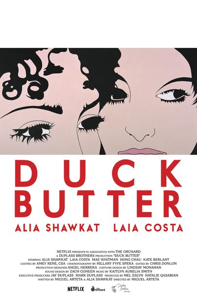 "Movie poster for ""DUCK BUTTER"""