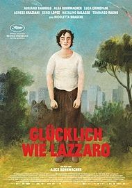 "Movie poster for ""HAPPY AS LAZZARO"""