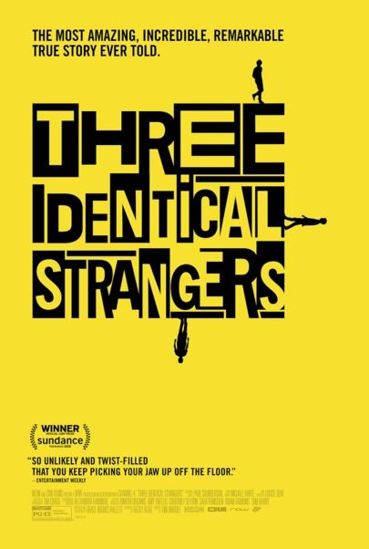 "Movie poster for ""THREE IDENTICAL STRANGERS"""