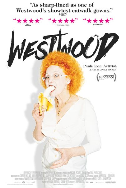 "Movie poster for ""WESTWOOD: PUNK, ICON, ACTIVIST"""