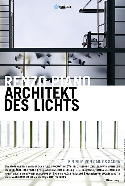 "Movie poster for ""Renzo Piano - Architekt des Lichts"""