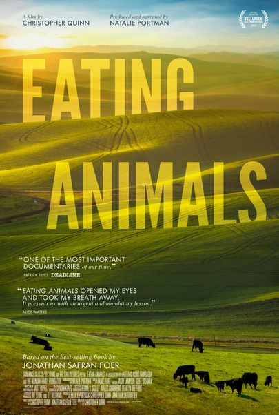 "Movie poster for ""EATING ANIMALS"""