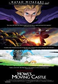 "Movie poster for ""HOWL'S MOVING CASTLE"""