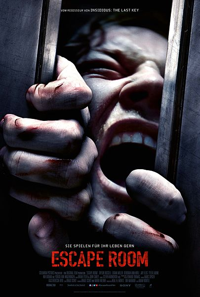 "Movie poster for ""ESCAPE ROOM"""