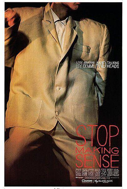 "Movie poster for ""STOP MAKING SENSE (2K REMASTERED)"""