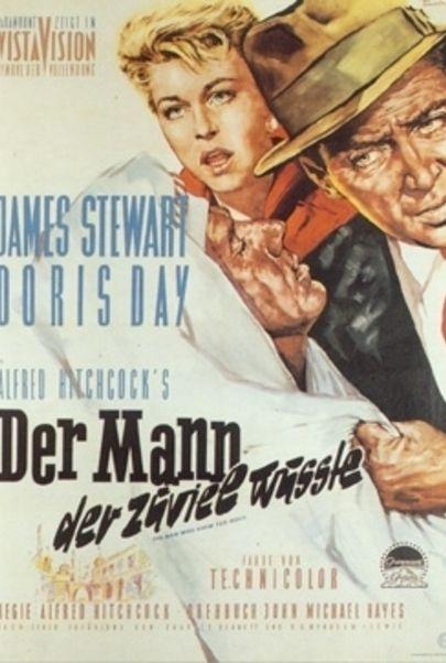 """Filmplakat für """"Der Mann, der zuviel wusste"""""""