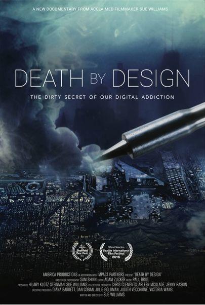 """Filmplakat für """"Death by Design - Die dunkle Seite der IT-Industrie"""""""