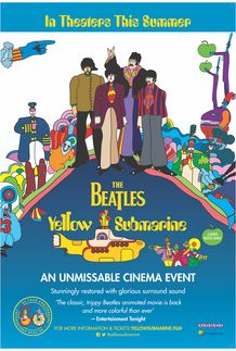 "Movie poster for ""YELLOW SUBMARINE"""