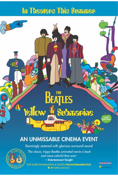 """Movie poster for """"YELLOW SUBMARINE"""""""