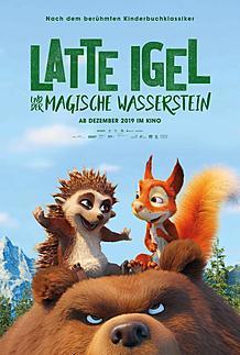 """Movie poster for """"LATTE IGEL UND DER MAGISCHE WASSERSTEIN"""""""
