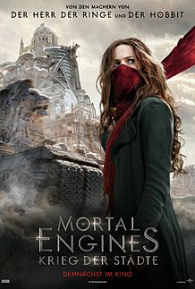 "Movie poster for ""MORTAL ENGINES"""
