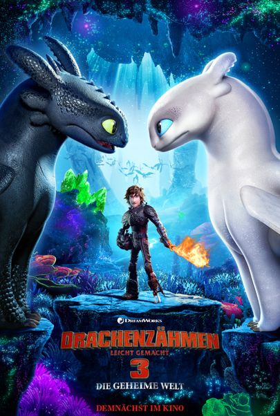 """Movie poster for """"HOW TO TRAIN YOU DRAGON: THE HIDDEN WORLD"""""""