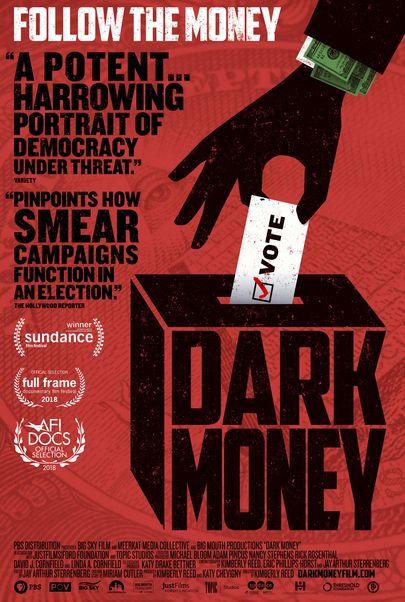 "Movie poster for ""DARK MONEY"""
