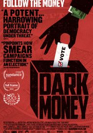 "Movie poster for ""DARK MONEY"""