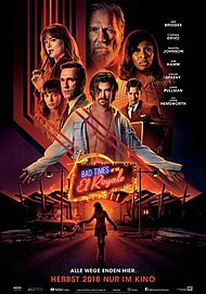 """Movie poster for """"BAD TIMES AT THE EL ROYALE"""""""