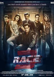 """Movie poster for """"Race 3"""""""
