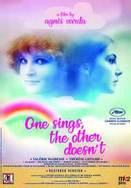 "Movie poster for ""ONE SINGS, THE OTHER DOESN'T"""