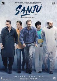 """Movie poster for """"Sanju"""""""