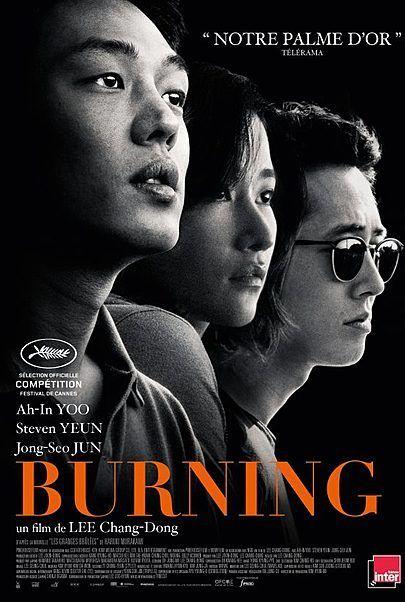 "Movie poster for ""BURNING"""
