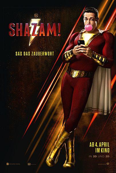 """Filmplakat für """"SHAZAM!"""""""
