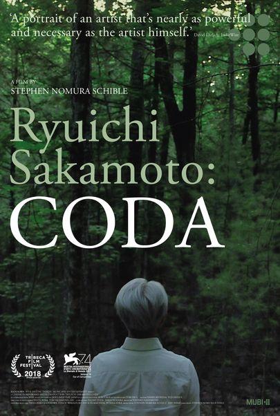 "Movie poster for ""RYUICHI SAKAMOTO: CODA"""