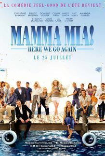 "Movie poster for ""MAMMA MIA: HERE WE GO AGAIN!"""