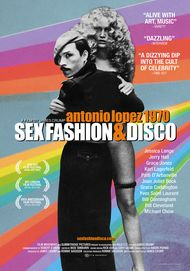 "Movie poster for ""ANTONIO LOPEZ 1970: SEX FASHION & DISCO"""