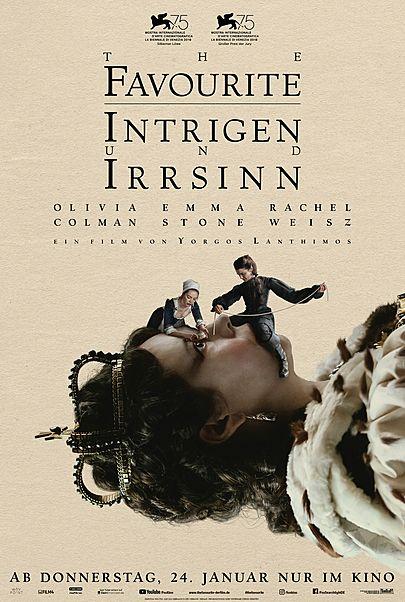 """Filmplakat für """"The Favourite - Intrigen und Irrsinn"""""""