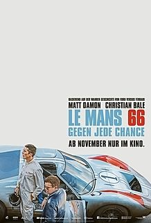 "Movie poster for ""Le Mans 66"""