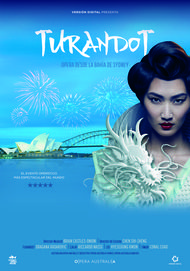 "Movie poster for ""TURANDOT: HANDA OPERA ON SYDNEY HARBOUR"""