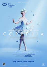 "Movie poster for ""COPPELIA: FROM THE AUSTRALIAN BALLET. THE FAIRY TALE SERIES"""