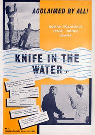 "Movie poster for ""KNIFE IN THE WATER"""