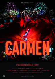 "Movie poster for ""CARMEN: HANDA OPERA ON SIDNEY HARBOUR"""