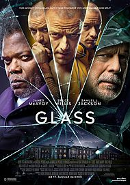 "Movie poster for ""GLASS"""