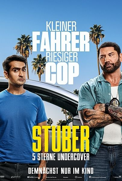 """Movie poster for """"STUBER"""""""