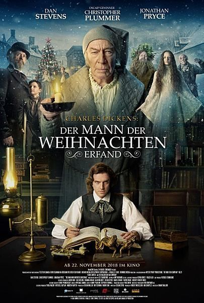 """Filmplakat für """"Charles Dickens: Der Mann, der Weihnachten erfand"""""""