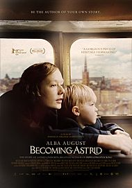 "Movie poster for ""BECOMING ASTRID"""