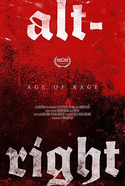 "Movie poster for ""ALT-RIGHT: AGE OF RAGE"""